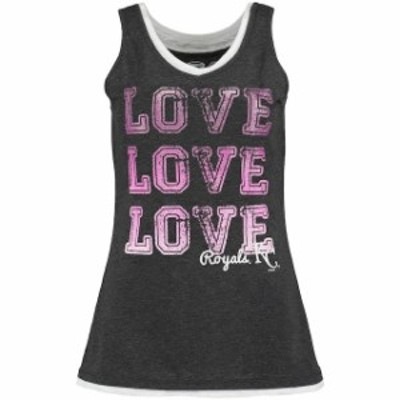 Concepts Sport コンセプト スポーツ スポーツ用品  Concepts Sport Kansas City Royals Womens Charcoal Crush Layered Tank Top