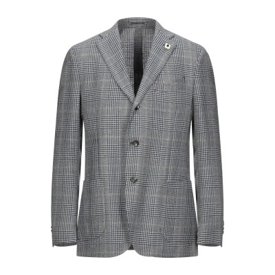 ラルディーニ LARDINI テーラードジャケット ブルー 54 ウール 48% / リネン 28% / シルク 24% テーラードジャケット