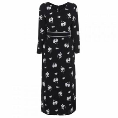 アルマーニ Armani Exchange レディース ワンピース ミドル丈 ワンピース・ドレス Midi Print Dress Black/Whte