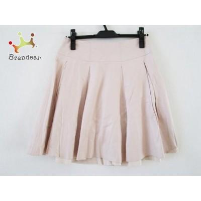 フォクシーニューヨーク FOXEY NEW YORK スカート サイズ40 M レディース ピンク フェイクレザー 新着 20200813