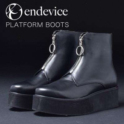 ショートブーツ 厚底 メンズ レディース 合成革靴 紳士 婦人