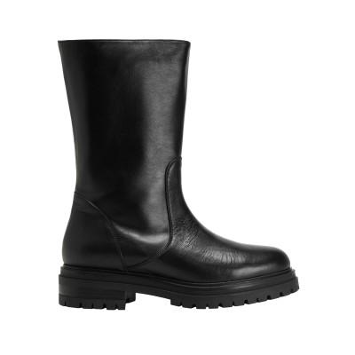 8 by YOOX ブーツ ブラック 39 牛革(カーフ) 100% ブーツ