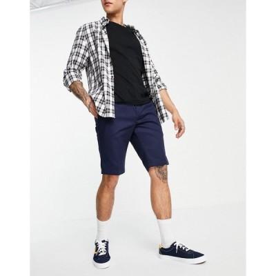 ディッキーズ メンズ カジュアルパンツ ボトムス Dickies slim fit work shorts in navy Navy
