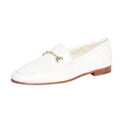Sam Edelman Women's Loraine Classic Loafer, Bright White Leather, 10.5【並行輸入品】