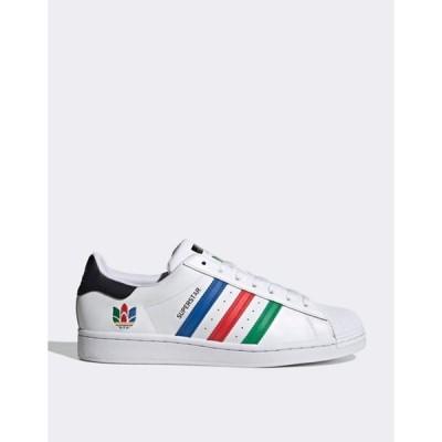 アディダス レディース スニーカー シューズ adidas Originals Superstar Oympics sneakers in white
