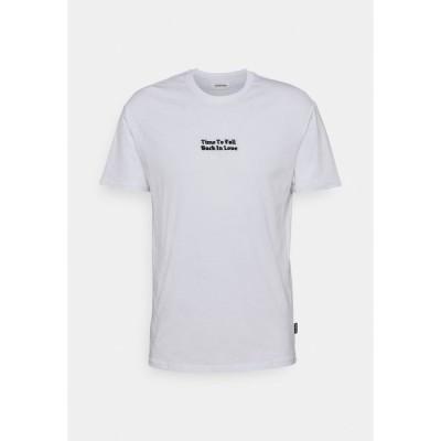 ユアターン Tシャツ メンズ トップス ROSE AND BARBED WIRE UNISEX - Print T-shirt - white