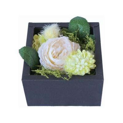 日限定10 彩か Flower Box S  white  CXO-FB01 2個 造花ギフト フラワーアレンジ