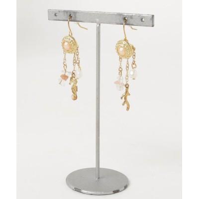 TONE / 【Lira jewelry】珊瑚チャーム ピアス WOMEN アクセサリー > ピアス(両耳用)