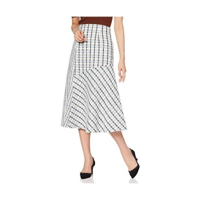 マーキュリーデュオ スカート ツィードブロッキングスカート レディース アイスブルー 日本 S (日本サイズS相当)