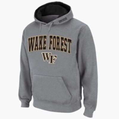 Stadium Athletic スタジアム アスレティック スポーツ用品  Stadium Athletic Wake Forest Demon Deacons Gray Arch & Logo Pullover Ho