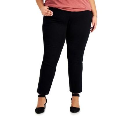 スタイルアンドコー レディース デニムパンツ ボトムス Plus Size High-Rise Straight Jeans
