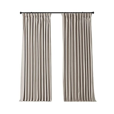 Exclusive Fabrics シグネチャーベルベット製 120 インチ遮光カーテンパネル 100 X 96 VPCH-VET1217-96