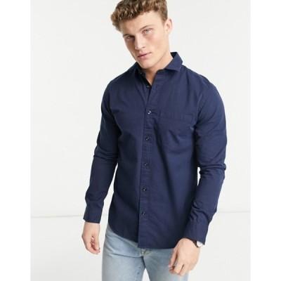 セレクテッドオム メンズ シャツ トップス Selected Homme Gautin solid long sleeve shirt