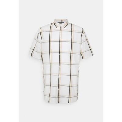 ウィークデイ シャツ メンズ トップス DAMEER CHECKED SHORT SLEEVE - Shirt - white