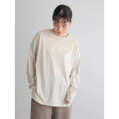 tシャツ Tシャツ ロングスリーブ裾ラウンドカットプルオーバー *●