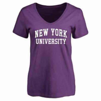 Fanatics Branded ファナティクス ブランド スポーツ用品  NYU Violets Womens Purple Everyday T-Shirt