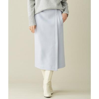 ICB 【マガジン掲載】WoolRever タイトスカート(番号CJ26) (スカイブルー系)