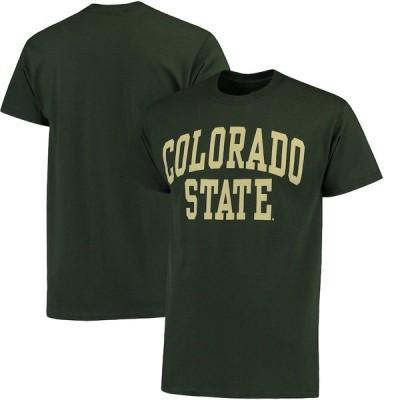 """メンズ Tシャツ """"Colorado State Rams"""" Basic Arch T-Shirt - Green"""