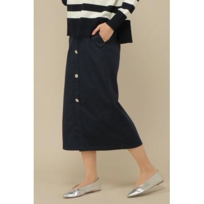 【イッカ/ikka】 前ボタンチノタイトスカート