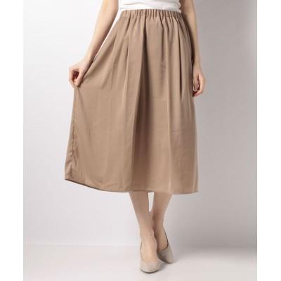 【テチチ】 ギャザースカート(80丈) レディース モカ F Te chichi