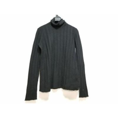 ジョルジオアルマーニクラシコ GIORGIOARMANI CLASSICO 長袖セーター サイズ42 L レディース 黒 タートルネック【中古】20200403