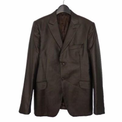 【中古】コスチューム オム CoSTUME HOMME イタリア製 2B テーラードジャケット ブレザー 長袖 48 ダークブラウン