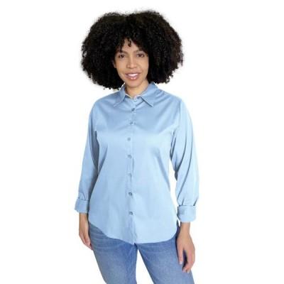 レディース 衣類 トップス Pier 17 - Women's Plus Size Button Down Shirts | Professional Full Sleeve ブラウス&シャツ