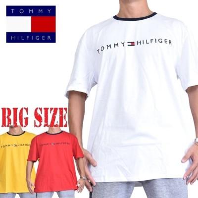 大きいサイズメンズ トミーヒルフィガージーンズ TOMMY HILFIGER JEANS クルーネック 半袖Tシャツ 白 赤 黄色 XL XXL [M便 1/1]