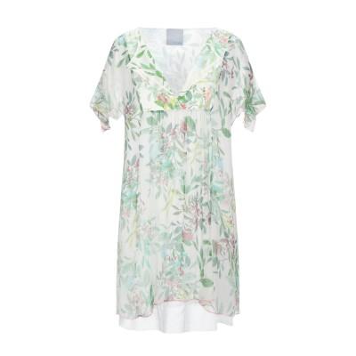 FLOOR ミニワンピース&ドレス アイボリー M コットン 100% ミニワンピース&ドレス