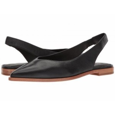 Frye フライ レディース 女性用 シューズ 靴 フラット Kenzie Slingback Black Tumbled Buffalo【送料無料】