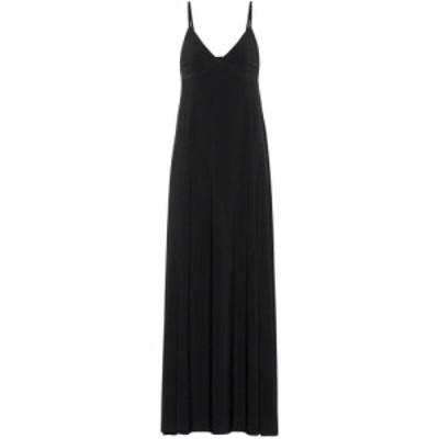 ノーマ カマリ Norma Kamali レディース ワンピース スリップドレス マキシ丈 ワンピース・ドレス Slip maxi dress black