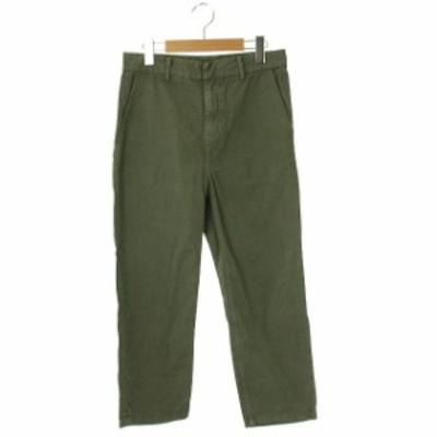 【中古】エーピーストゥディオ AP STUDIO 18AW Garment dye Tarperd テーパードパンツ コットン 34 カーキ レディース