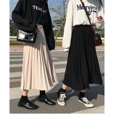 スカート ミモレ丈プリーツスカート