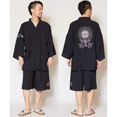 浴衣 【チャイハネ】ネイティブアメリカンバック刺繍MEN'S甚平