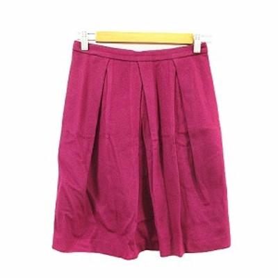 【中古】トゥモローランドコレクション TOMORROWLAND collection スカート タイト ひざ丈 タック 36 紫 パープル