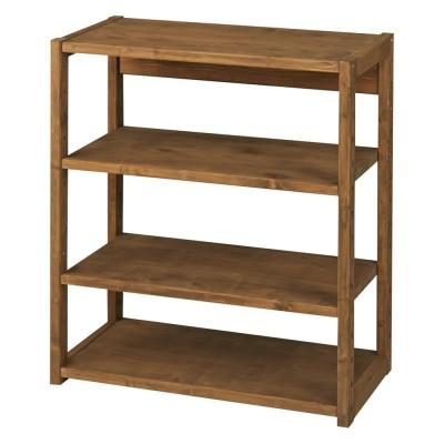 家具 収納 本棚 ラック シェルフ 棚 国産檜オープンラック 幅80高さ89cm 572444