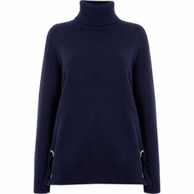 マイケル コース MICHAEL Michael Kors レディース ニット・セーター トップス Lacing sides knitwear Navy