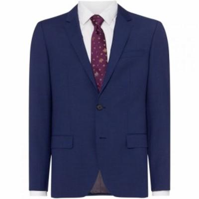 ヒューゴ ボス Hugo メンズ スーツ・ジャケット アウター Henry Slim Fit Cross Hatch Two-Piece Suit Jacket Blue
