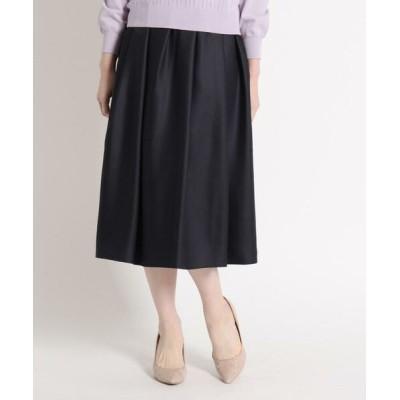 SunaUna/スーナウーナ アンスパンローンギャザースカート ネイビー(093) 36(S)