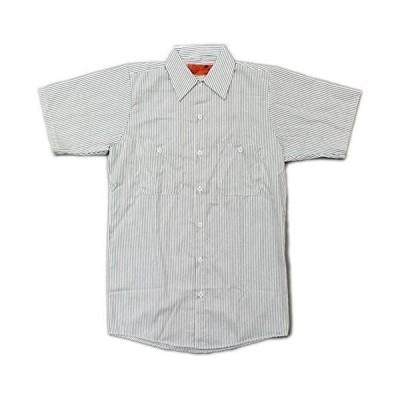 RED KAP(レッドキャップ)/SHORT SLEEVE STRIPE WORK SHIRTS(半袖ストライプワークシャツ) M GWホワ