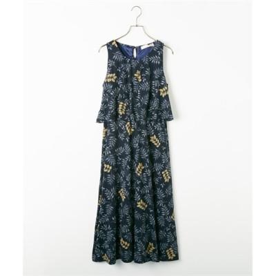総柄レイヤード風ワンピース (ワンピース)Dress