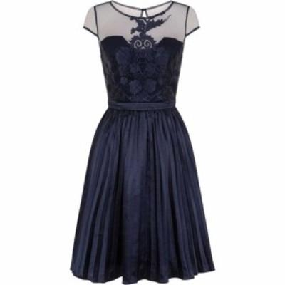 チチ Chi Chi レディース ワンピース ミドル丈 ワンピース・ドレス Embroidered Bodice Midi Dress Navy