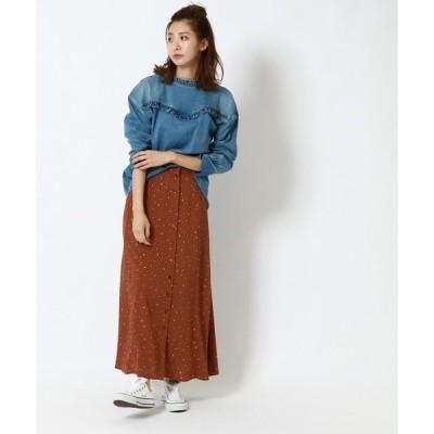 スカート FLORETSプリントスカート