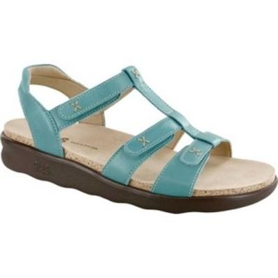エスエーエス レディース スニーカー シューズ Sorrento Adjustable Strap Sandal Turquoise Leather