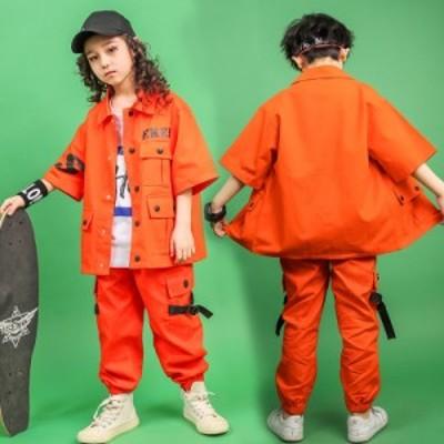 キッズ ダンス衣装 ヒップホップ HIPHOP 男の子 女の子 秋 男女兼用 ジャズダンス ジャケット サロペット