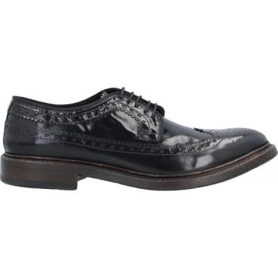 プレヴェンティ PREVENTI メンズ シューズ・靴 laced shoes Black