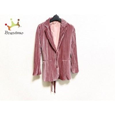 リリーブラウン Lily Brown ジャケット サイズF レディース 美品 ピンク×ボルドー コーデュロイ 新着 20200531