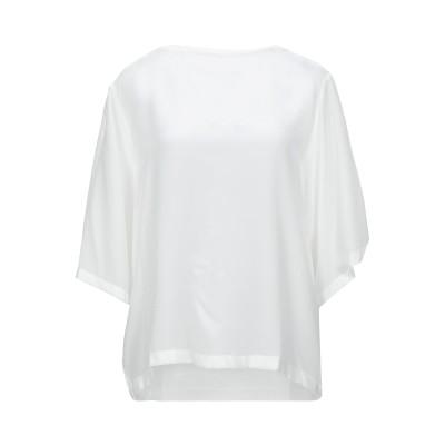 MAX & CO. ブラウス ホワイト L シルク 100% / レーヨン / ポリウレタン ブラウス