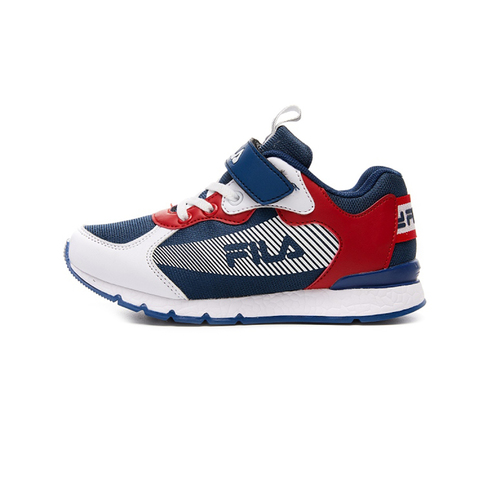 FILA KIDS 大童MD輕量慢跑鞋-白藍紅 3-J409V-123