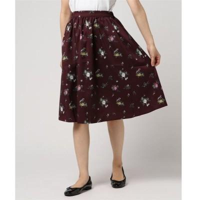 ・秋色ミディアムフラワーフレアスカート